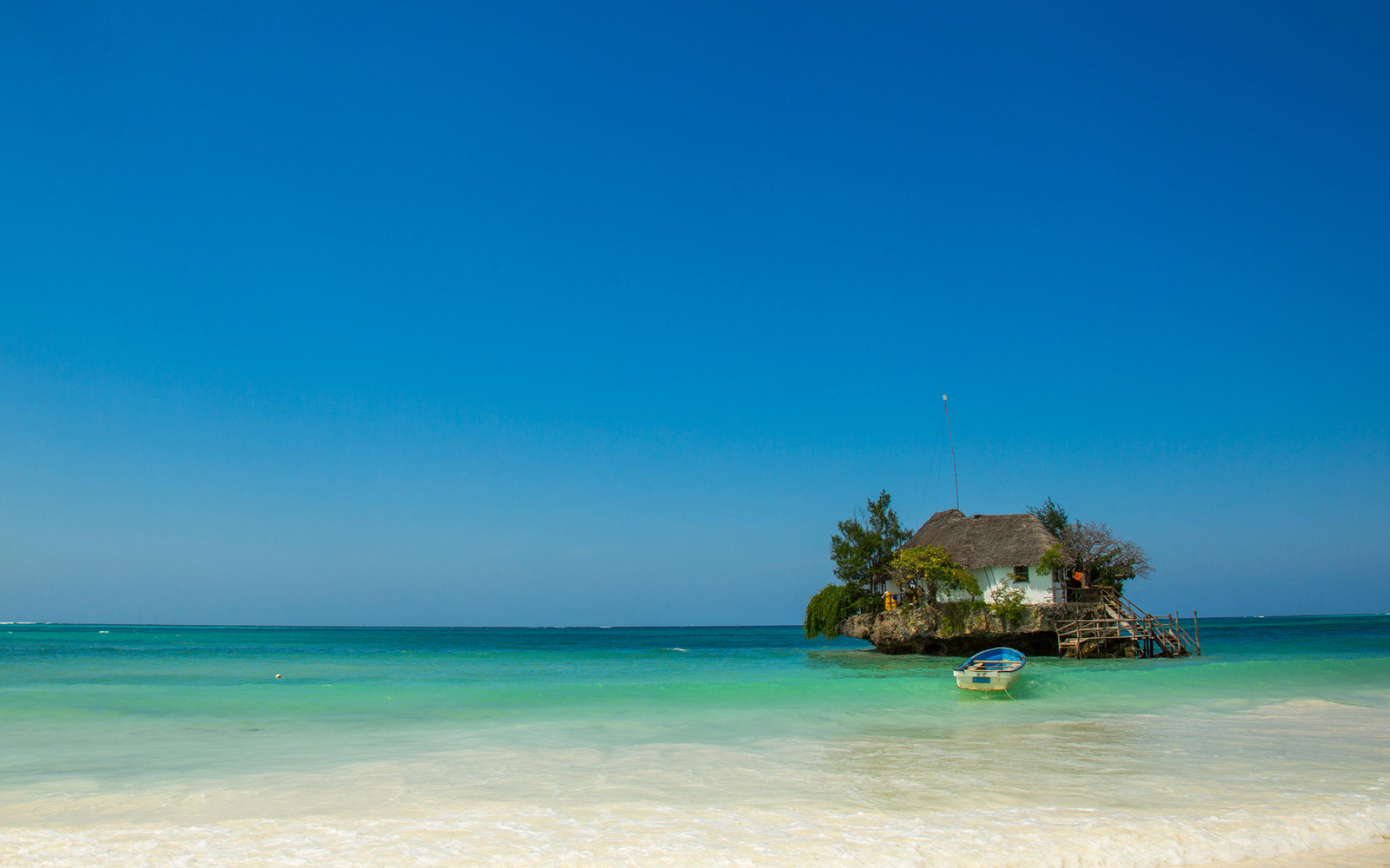 Dine in the Middle of the Ocean at This Restaurant in Zanzibar