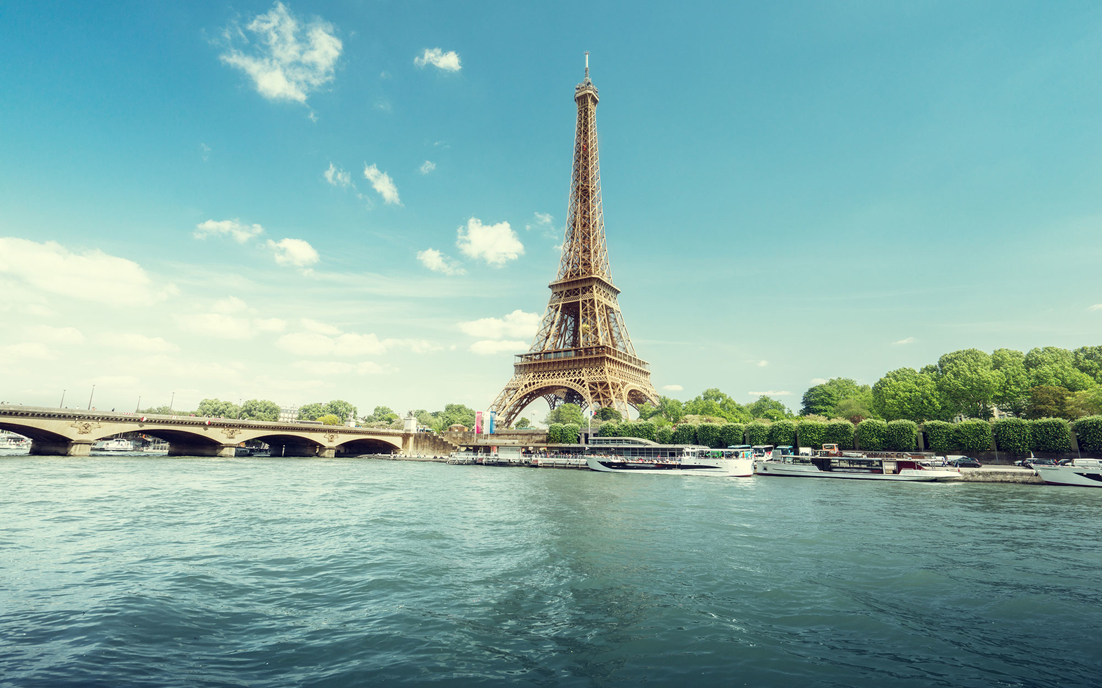 The Eiffel Tower from the Seine River