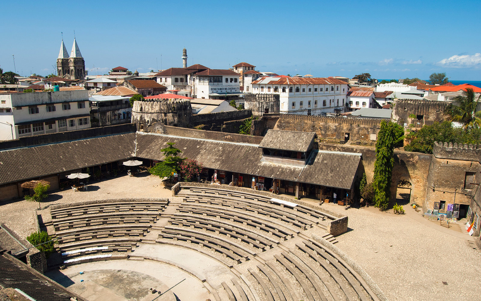 Tanzania, Zanzibar, Stone Town, The amphitheatre seen from the House of Wonders.