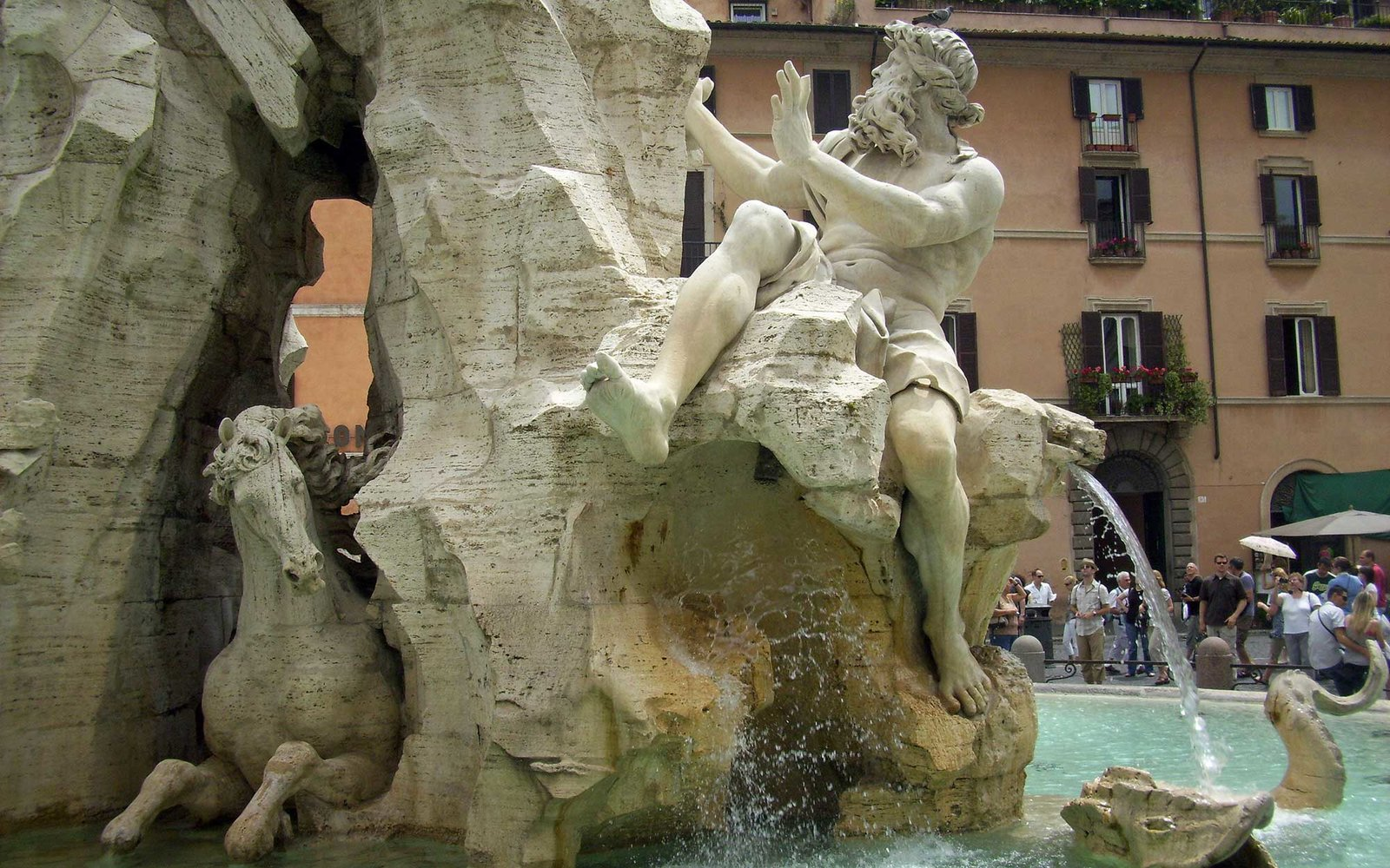 Fountain of the Four Rivers, Rome, Italy