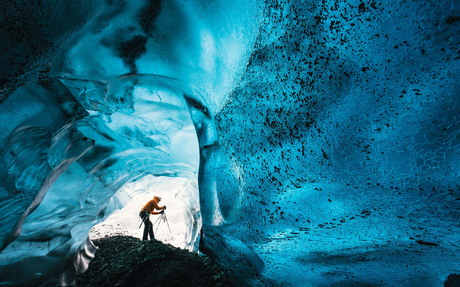 Vatnajokull caves in Iceland