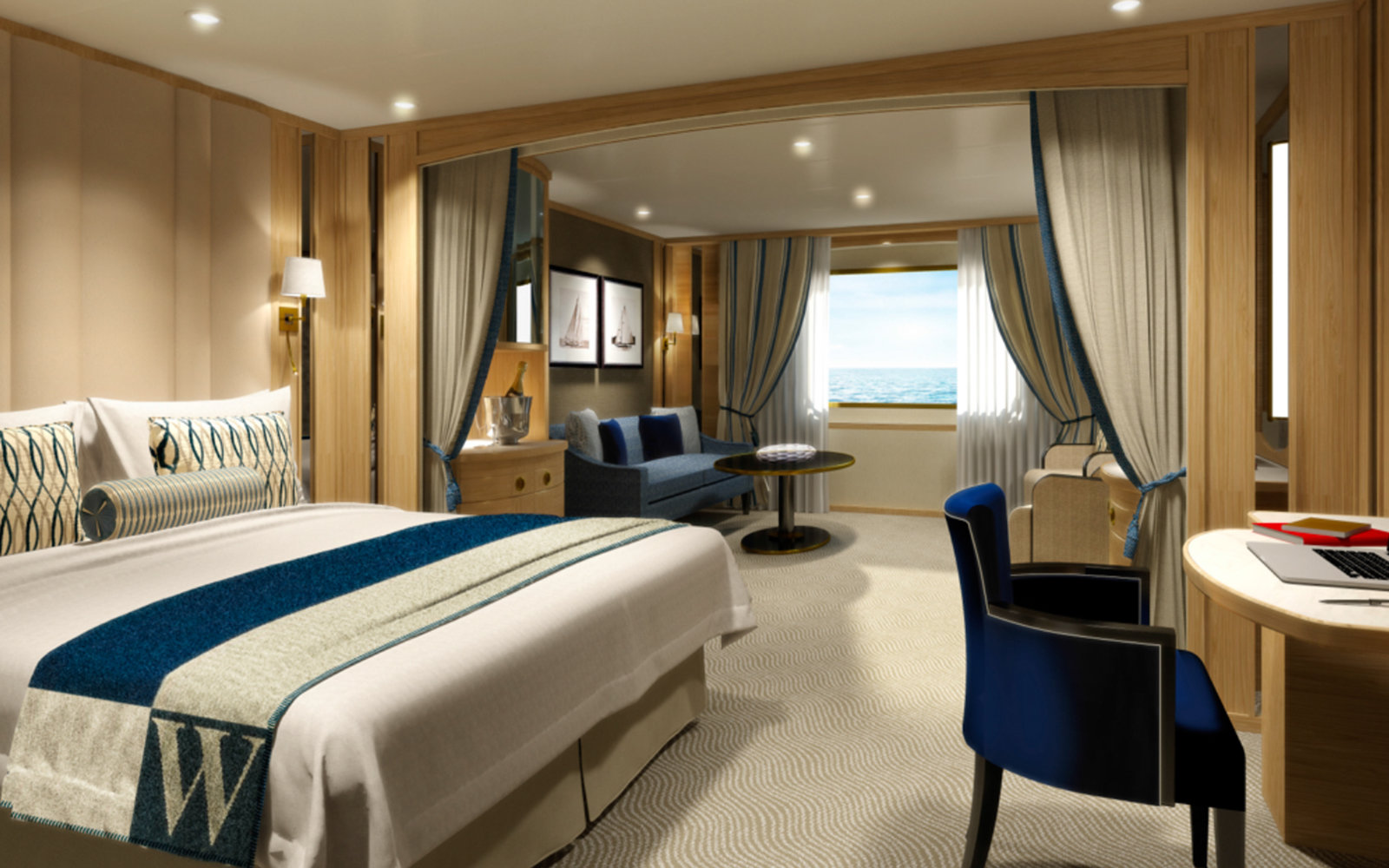 Worlds Best Cruise Cabins Travel Leisure - Rooms on cruise ships