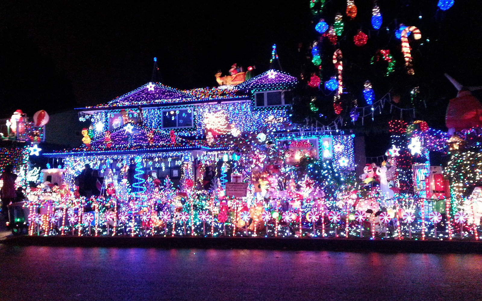 The best christmas light displays in every state travel for Best places to visit for christmas in usa