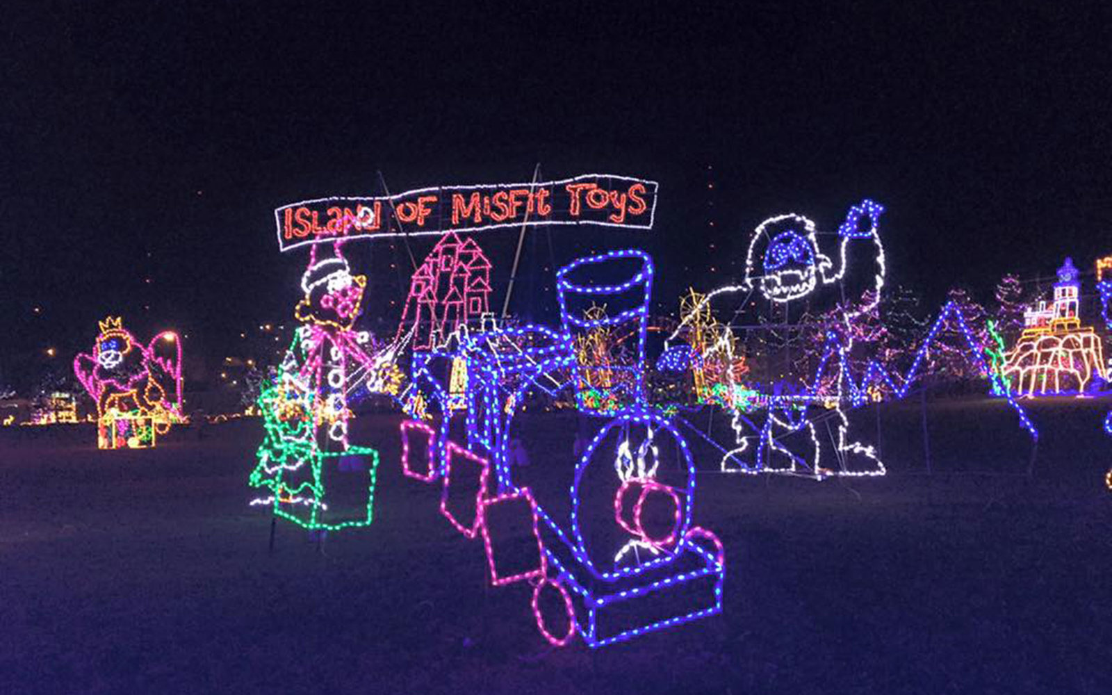 the best places to see christmas lights in every state - Neon Christmas Lights