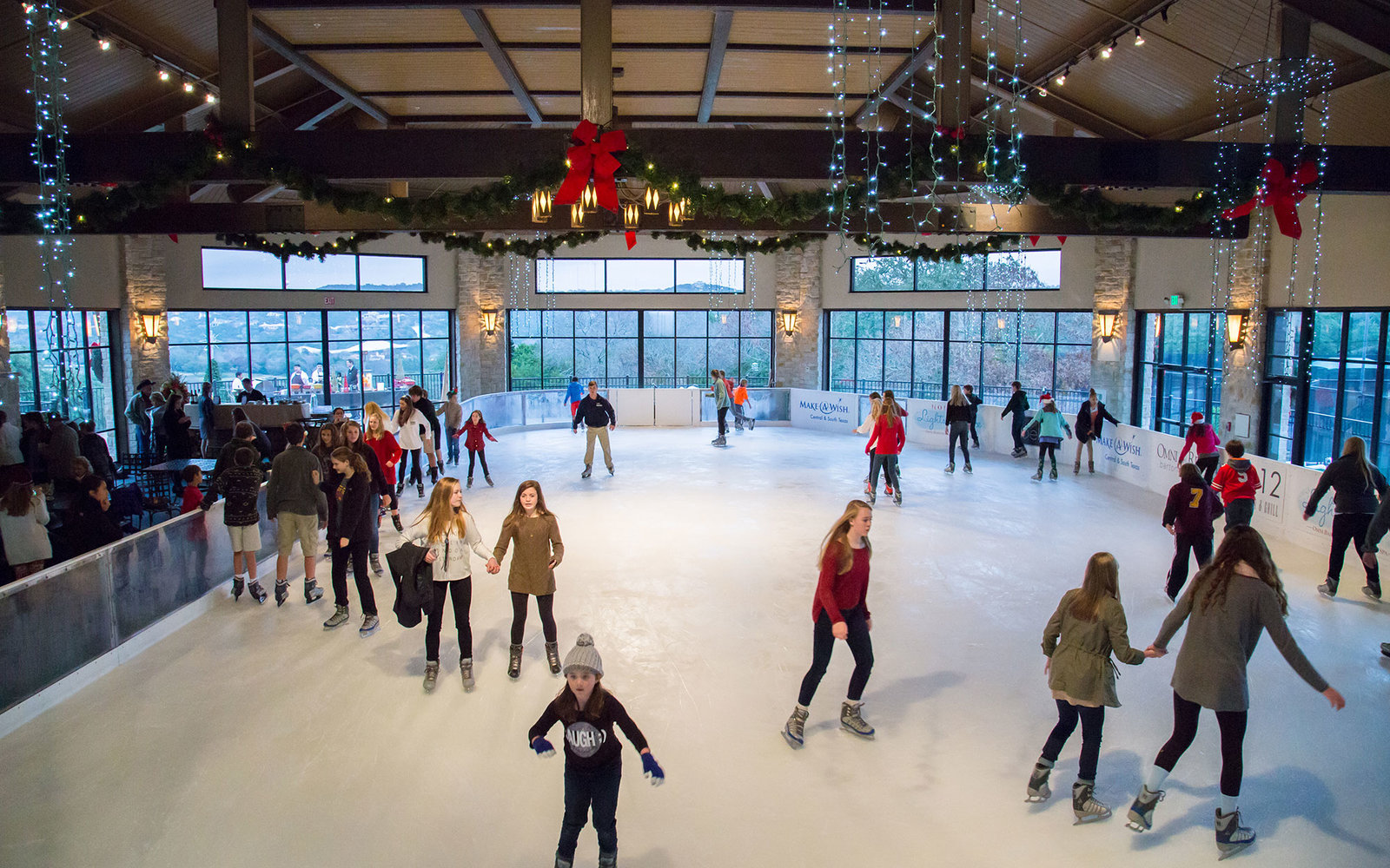 hotels with the best ice skating rinks travel leisure