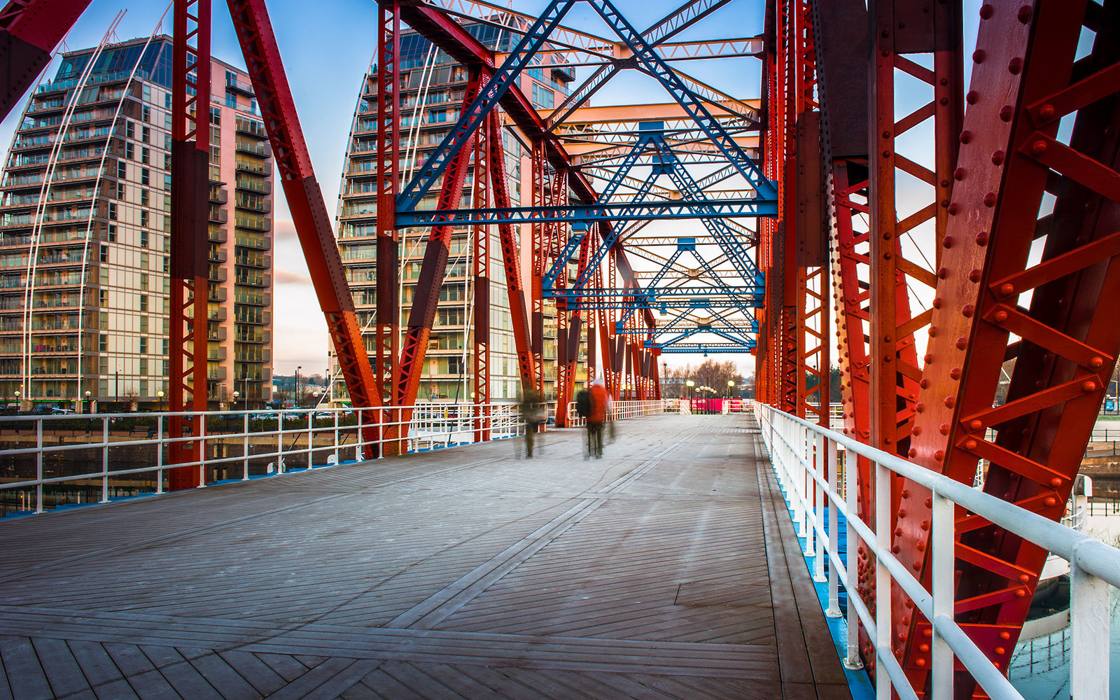 The Detroit Bridge in Salford Quays, Manchester, England; Shutterstock ID 277359257