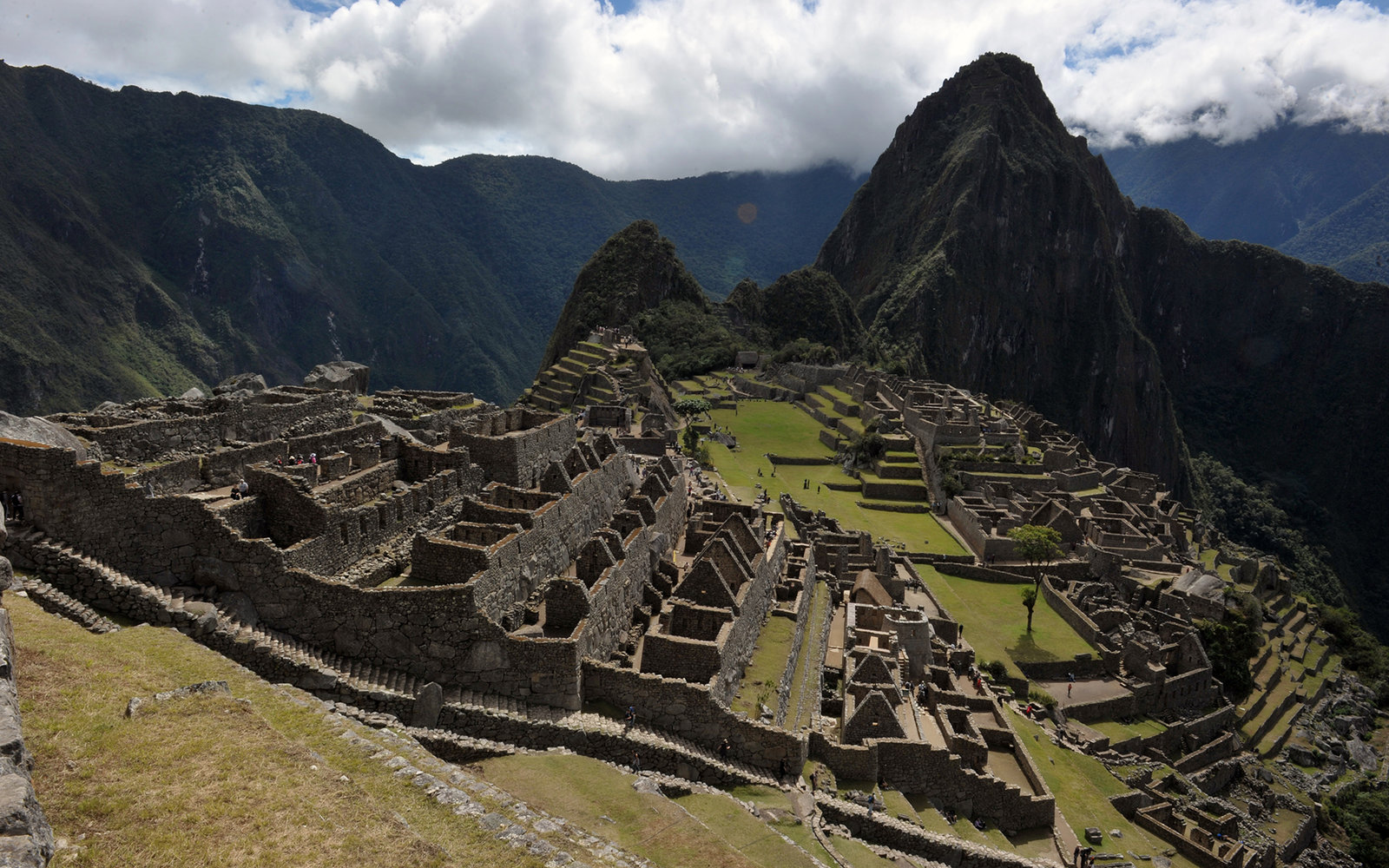 General view of the Machu Picchu citadel, on July 5, 2011. The Inca citadel is being prepared for the centennial commemoration of its discovery by American adventurer and archaeologist Hiram Bingham in 1911. The compound, which sits at 2,350 meters above