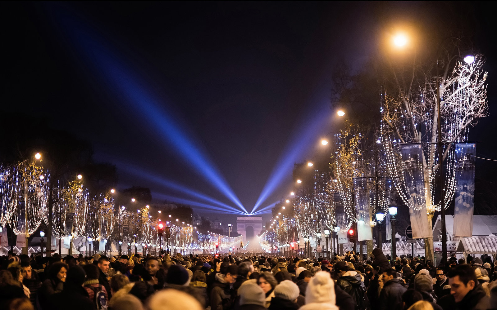 Champs Elysées New Years Eve