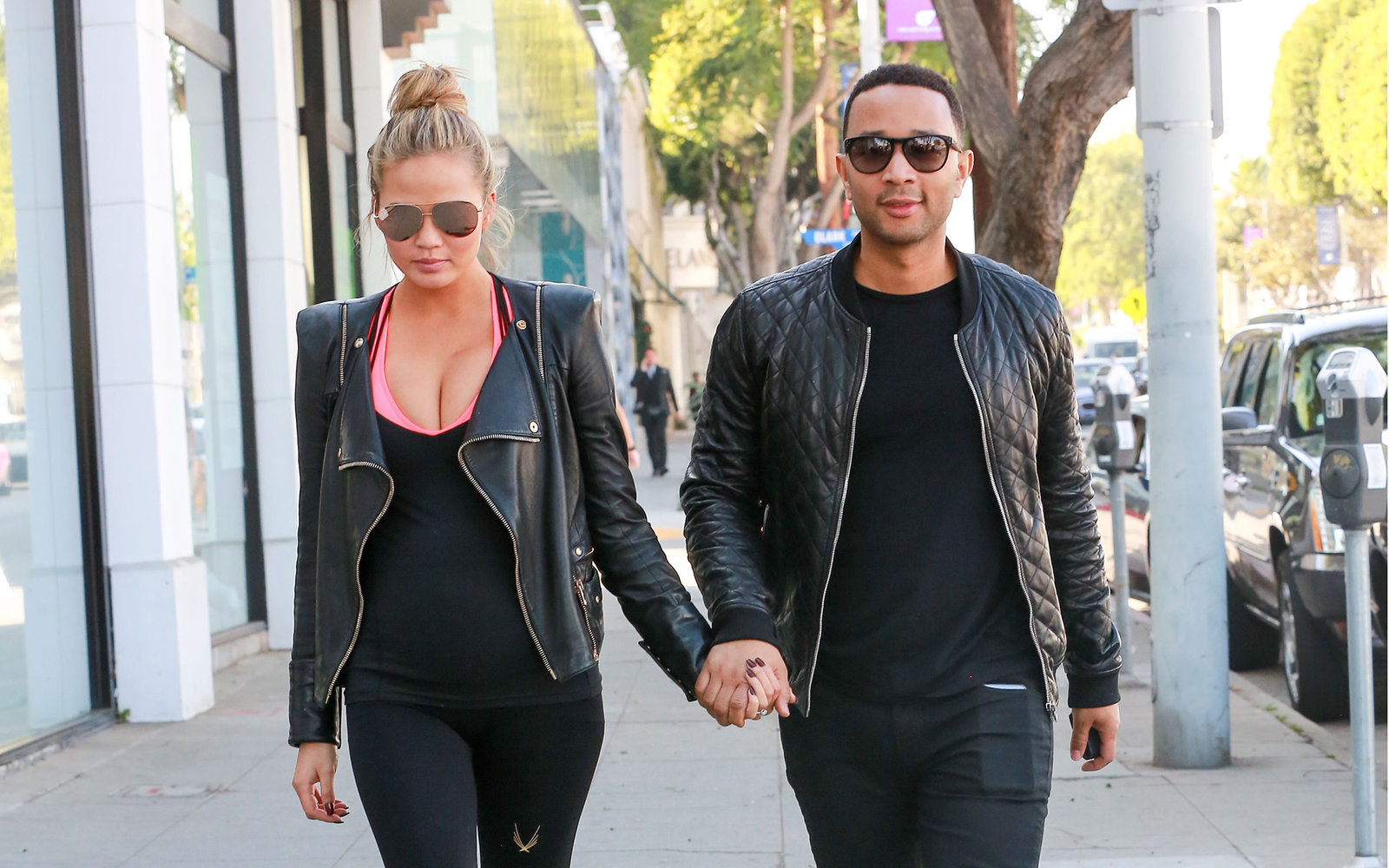 LOS ANGELES, CA - DECEMBER 04: Chrissy Teigen and John Legend are seen on December 04, 2015 in Los Angeles, California.  (Photo by Bauer-Griffin/GC Images)
