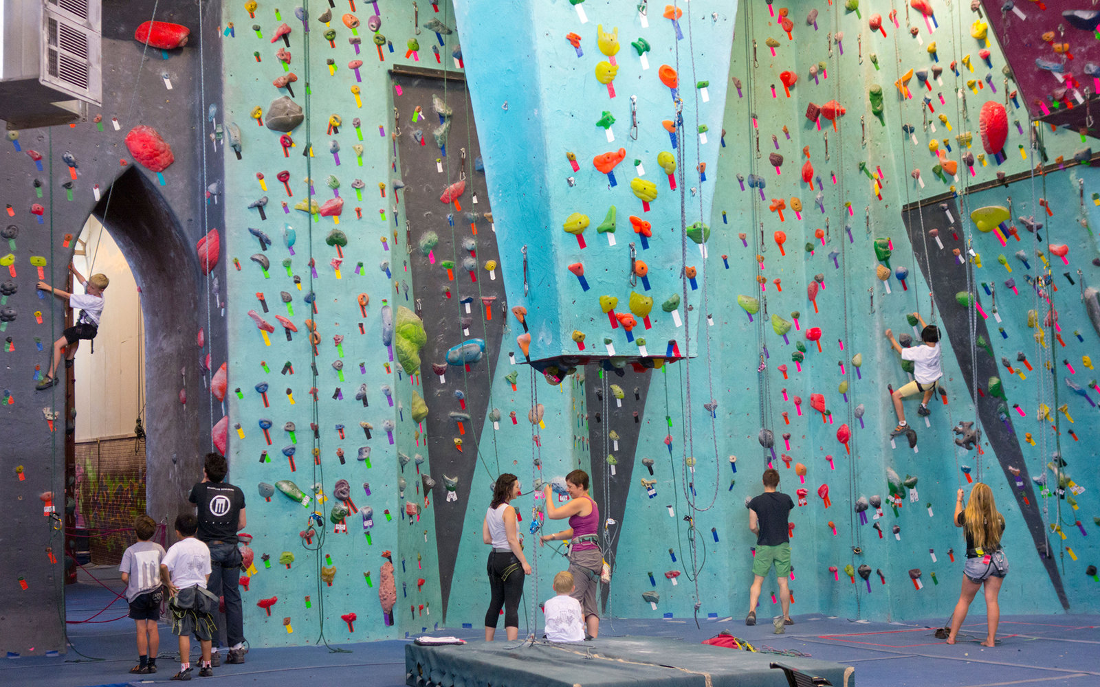 DDEDNK rock climbing at Brooklyn Boulders in NYC