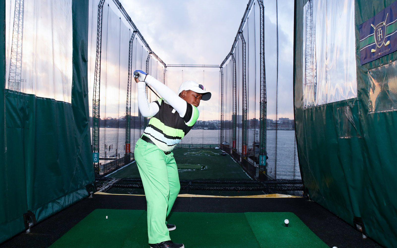 NEW YORK, NY - DECEMBER 10:  Golfer Zamokuhle Nxasana attends the Netflix  The Short Game  Golfing Event at Chelsea Piers Sports Center on December 10, 2013 in New York City.  (Photo by Andrew Toth/Getty Images)