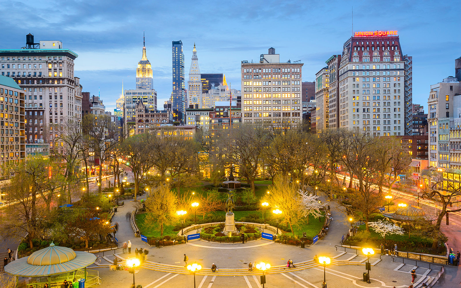 EAN9JN New York City, USA cityscape at Union Square in Manhattan.