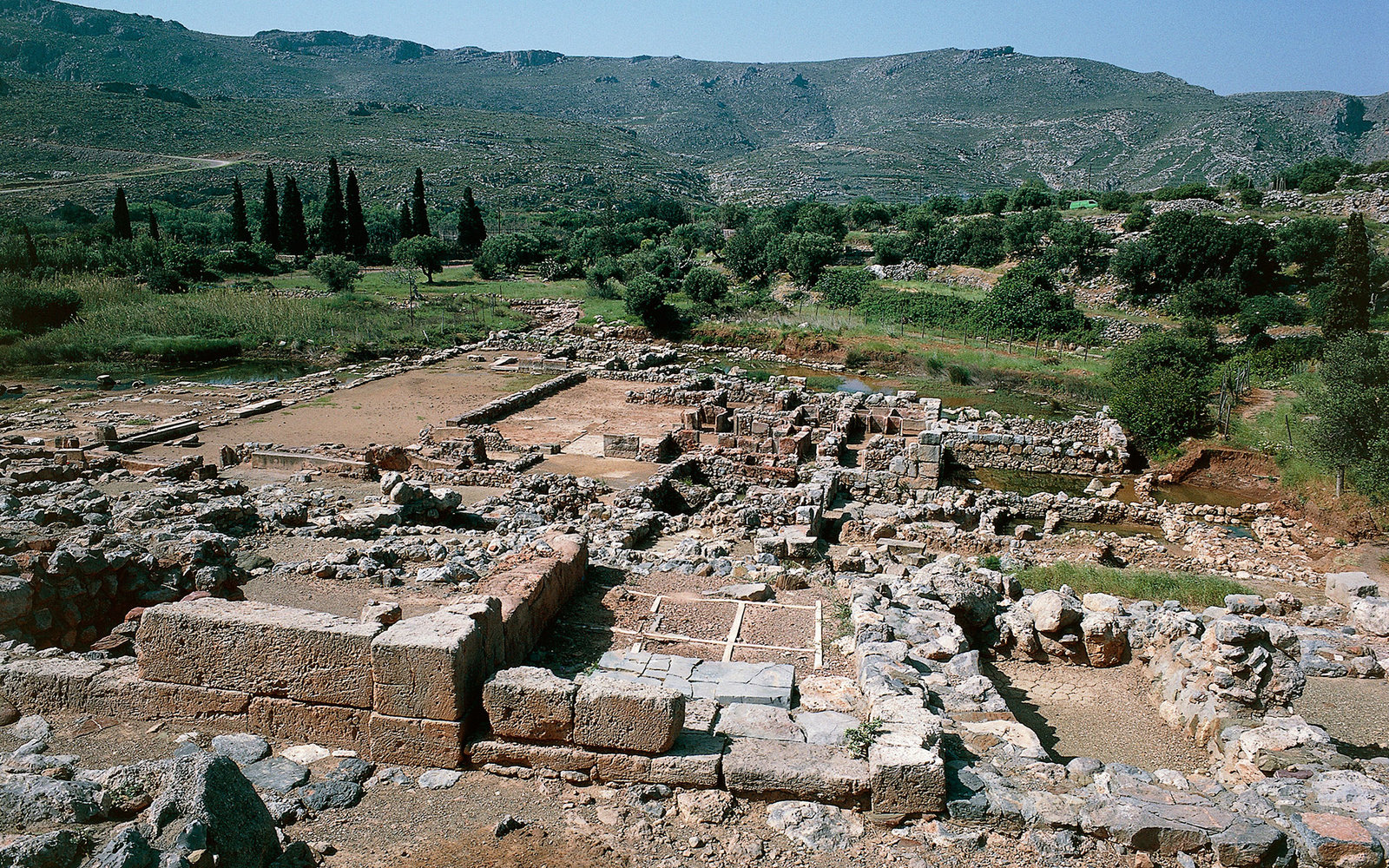 Ruins of Zakros palace, Crete, Greece. Minoan civilization, 17th-15th century BC