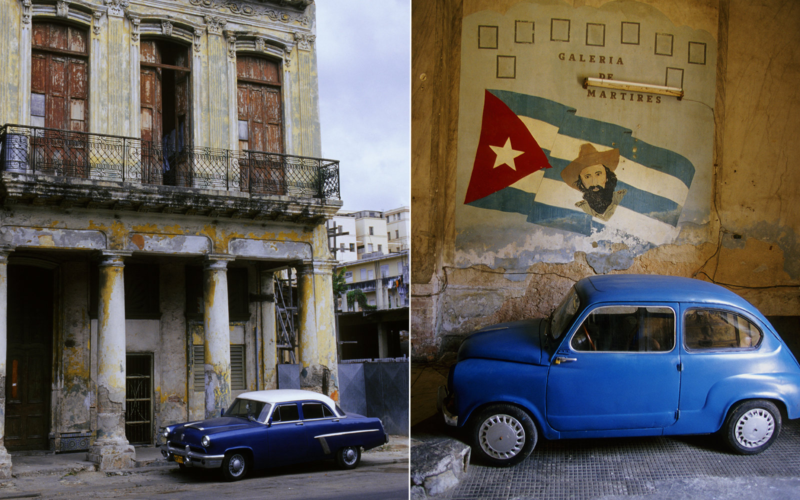 CUBA - 2003/01/01: Cuba, Havana, Paladar Restaurant Building, Movie Set For 'strawberries And Chocolate', Car, Sign. (Photo by Wolfgang Kaehler/LightRocket via Getty Images)