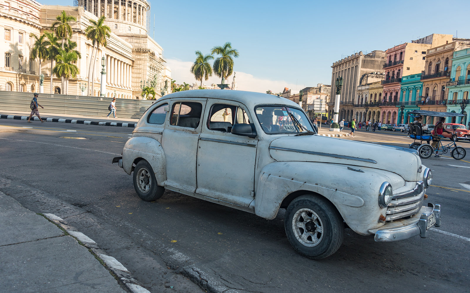 HAVANA, CUBA - 2015/09/18: Cuba news: real life use of obsolete vehicles in 2015. Cuba is known for the beautiful classic American cars still running in the Caribbean Island. However, here you find the real use of the real cars running in Cuba on a daily