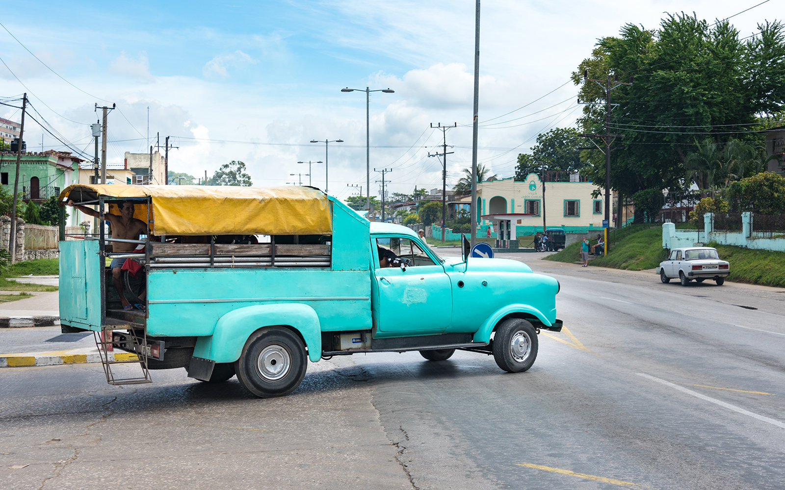 HAVANA, CUBA - 2015/09/11: Cuba news: real life use of obsolete vehicles in 2015. Cuba is known for the beautiful classic American cars still running in the Caribbean Island. However, here you find the real use of the real cars running in Cuba on a daily