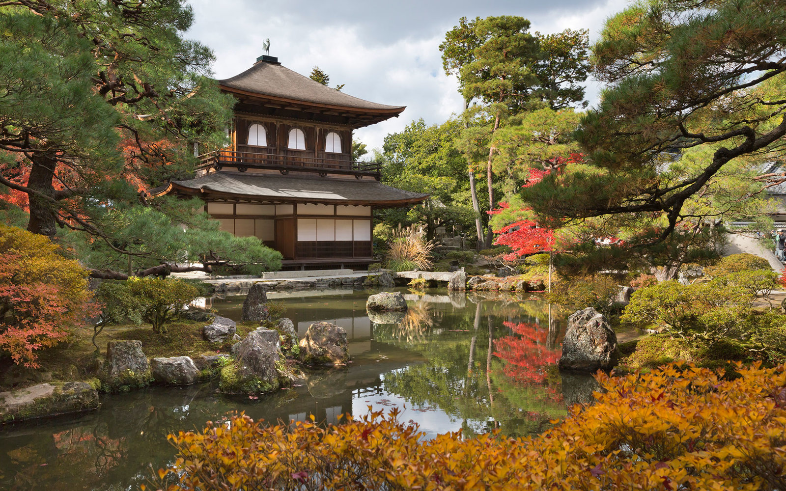 The Silver Pavilion, Buddhist Temple of Ginkaku-ji, Northern Higashiyama, Kyoto, Japan, Asia