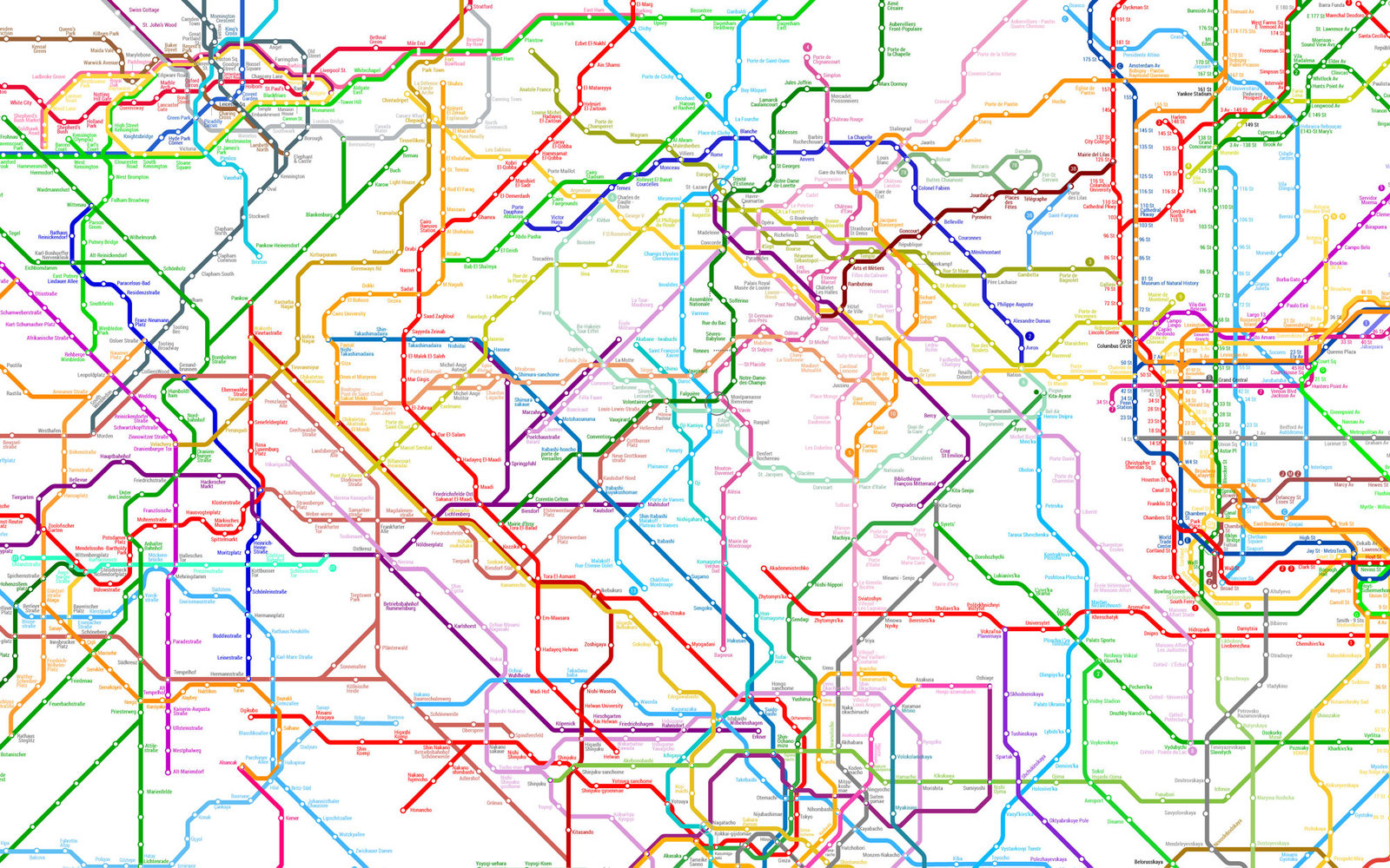 World Metro Map