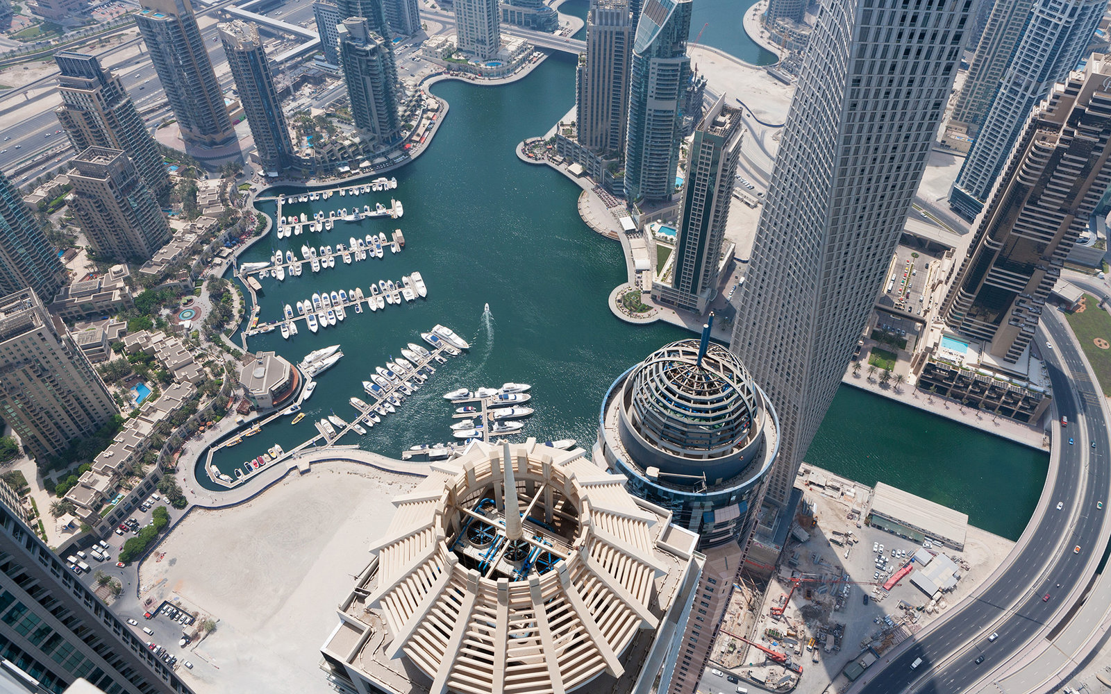 Dubai Marina Is Seen From The Princess Tower In Dubai United Arab Emirates On