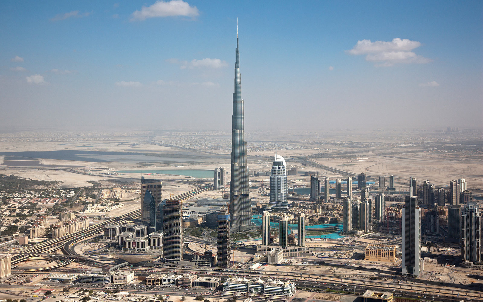 Aerial View Of The Burj Dubai Dubai Uae