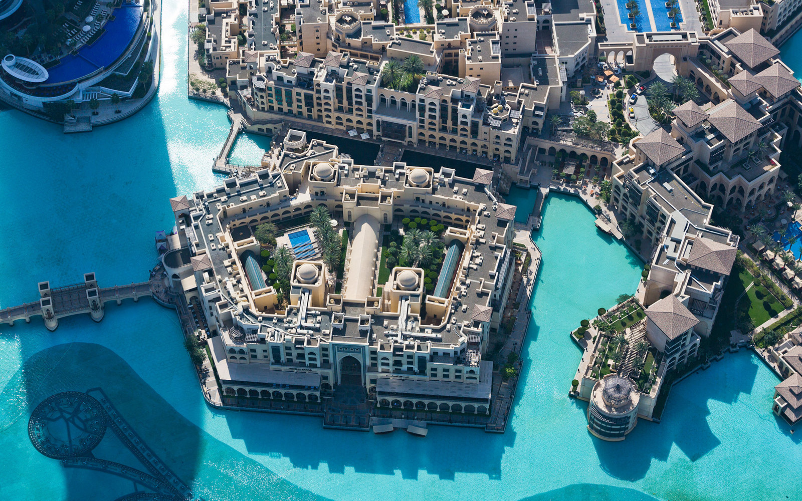 Aerial View Of Palace Downtown Hotel Of Dubai