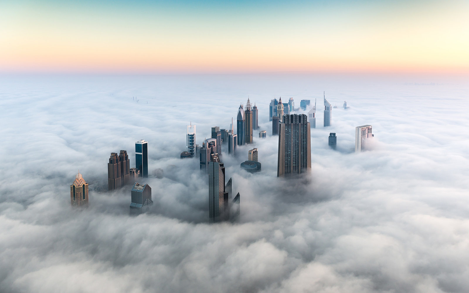 Dubai Emerging From The Fog