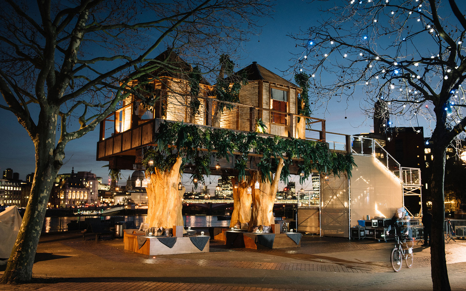 A luxury 35 foot treehouse, inspired by the South African destinations from Virgin Holidays has opened on London's Southbank. The public can visit every day this week and a lucky few can win an overnight stay by entering their details at virginholidays.co