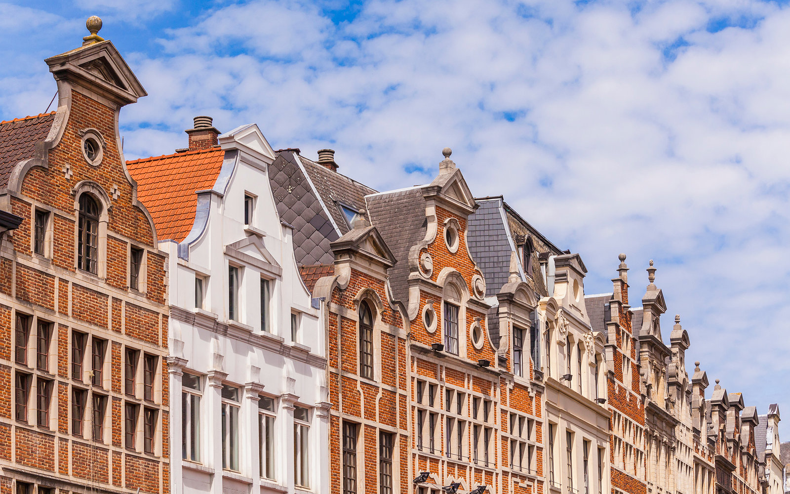Belgium, Brussels, historical houses, row of houses