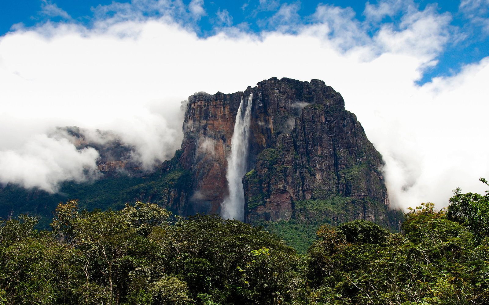 DGYGMT Angel Falls or Salto Angel, the highest waterfall in the world, Canaima National Park, Venezuela, South America