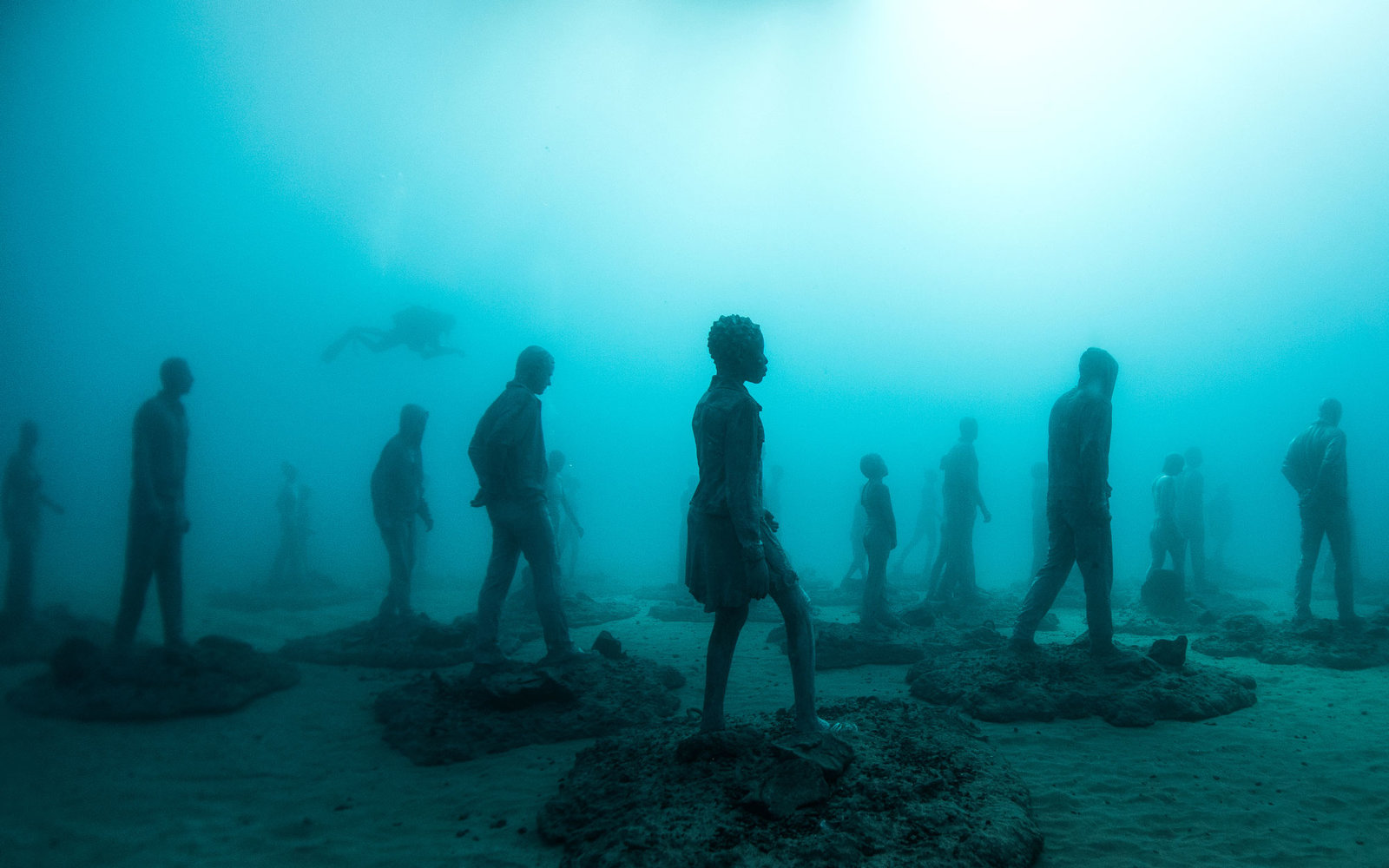 There's an Underwater Sculpture Museum in the Canary Islands