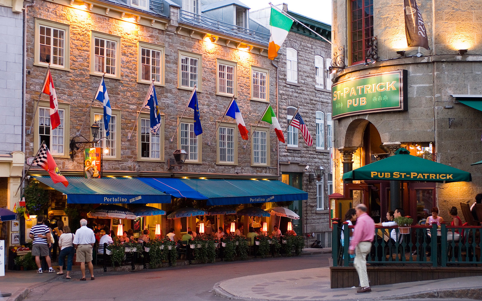 Popular Latin quarter along rue St. Jean, Quebec City, Quebec, Canada.
