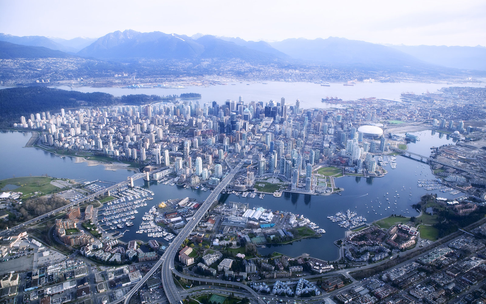 Aerial view Vancouver
