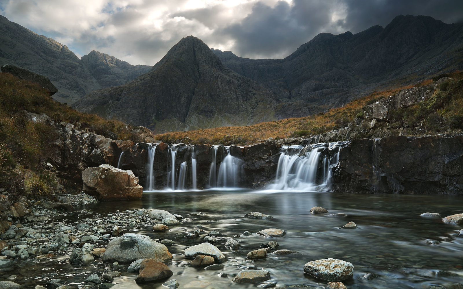 UK Scotland, Isle of Skye, Coire ne Creiche, Fairy Pools