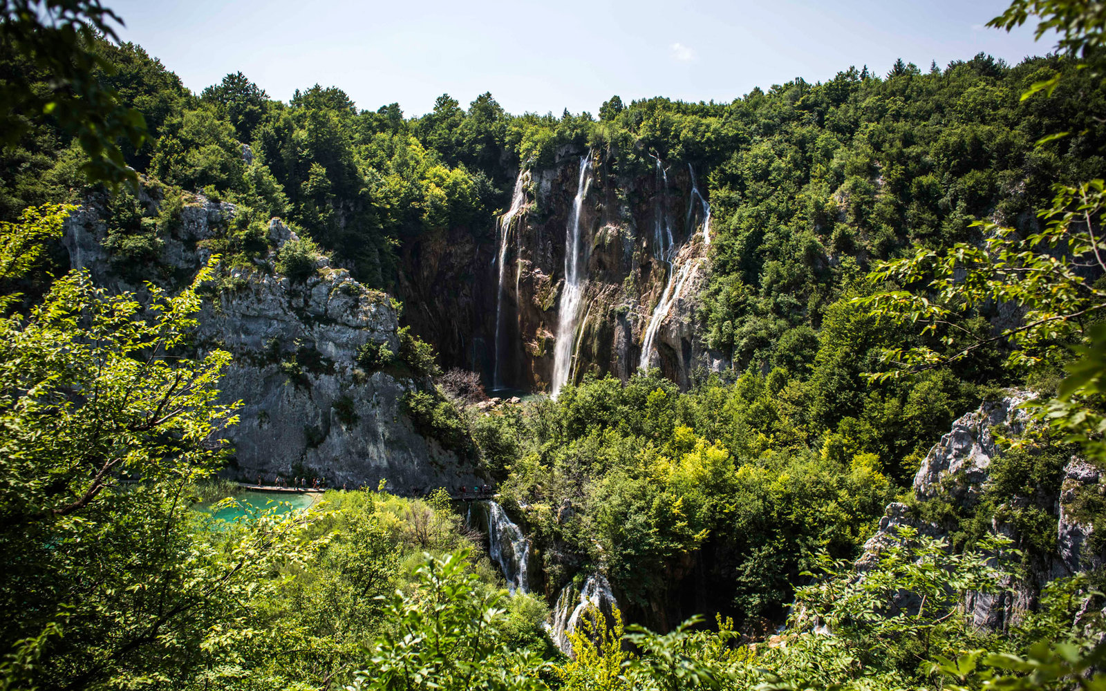 Big Waterfall Plitvice Lakes National Park Croatia