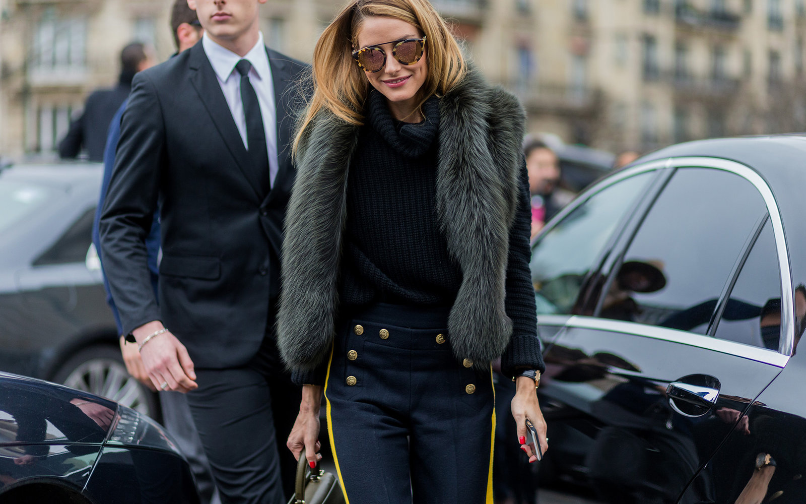 PARIS, FRANCE - January 27:  Olivia Palermo outside Elie Saab during the Paris Fashion Week -Haute Couture- Spring/Summer 2016 on January 27, 2016 in Paris, France.  (Photo by Christian Vierig/Getty Images)