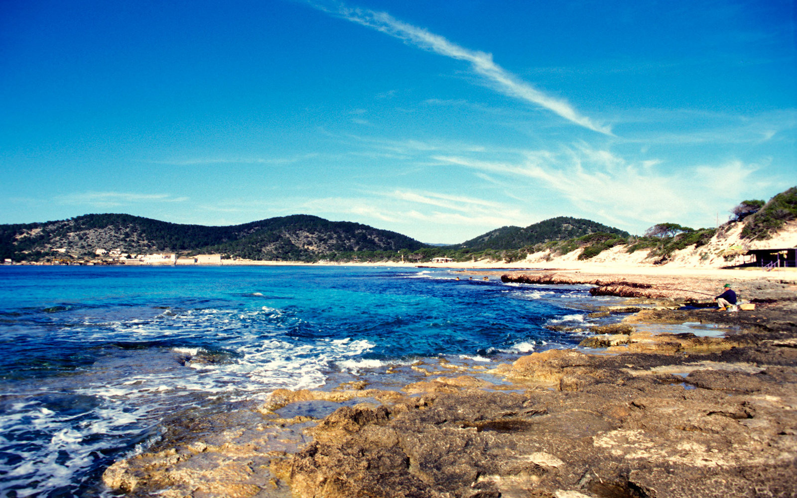 Sa Trincha, Las Salinas beach, off season, Ibiza, Spain