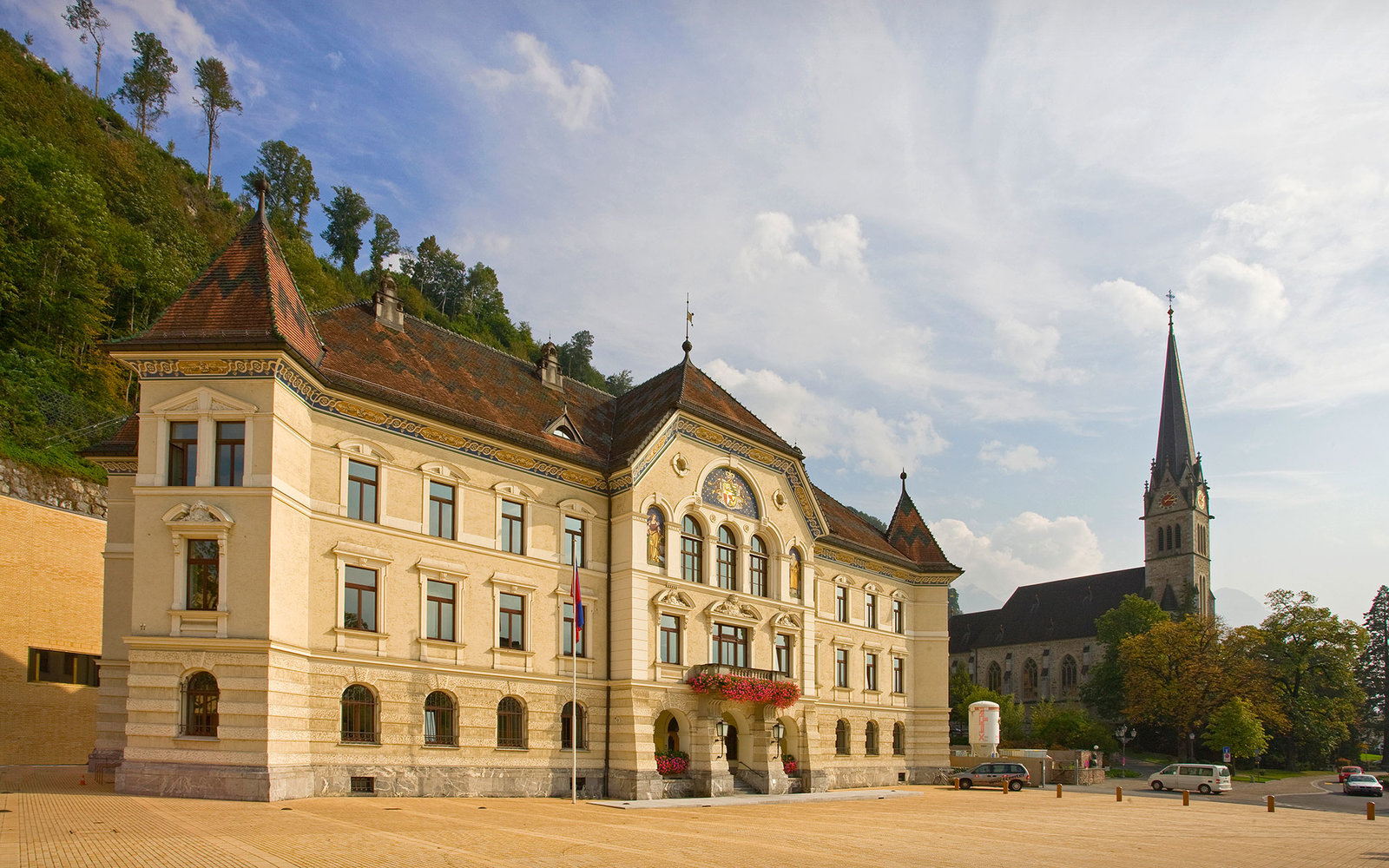 Liechtestein , Vaduz City Gobernment Palace