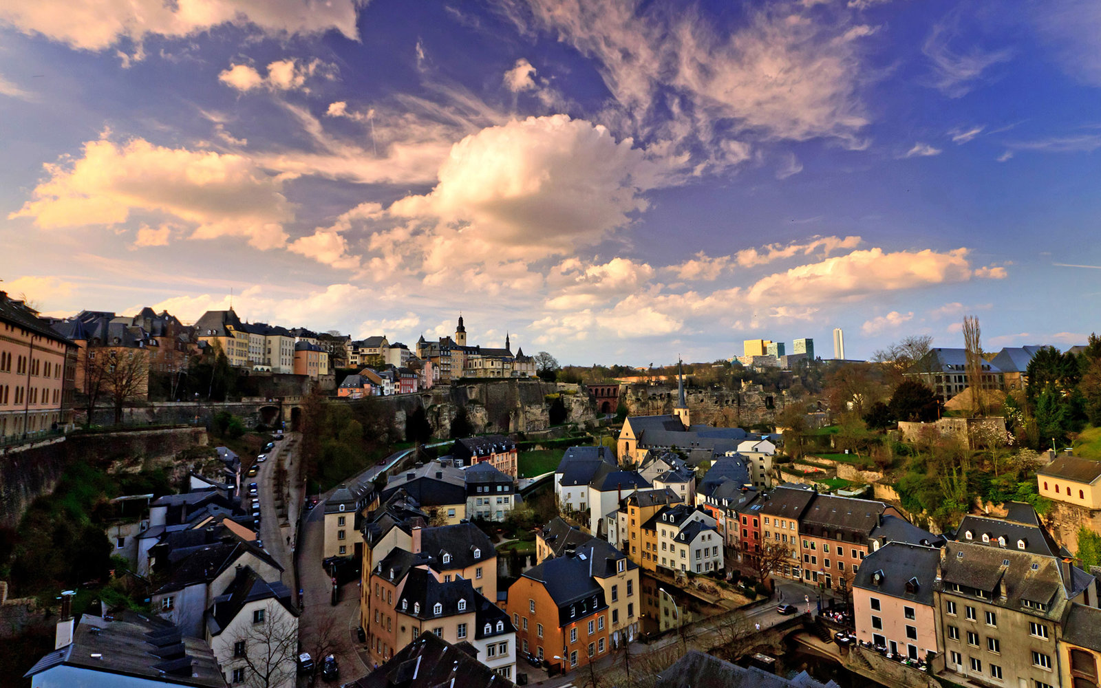 Luxembourg Old City at sunset