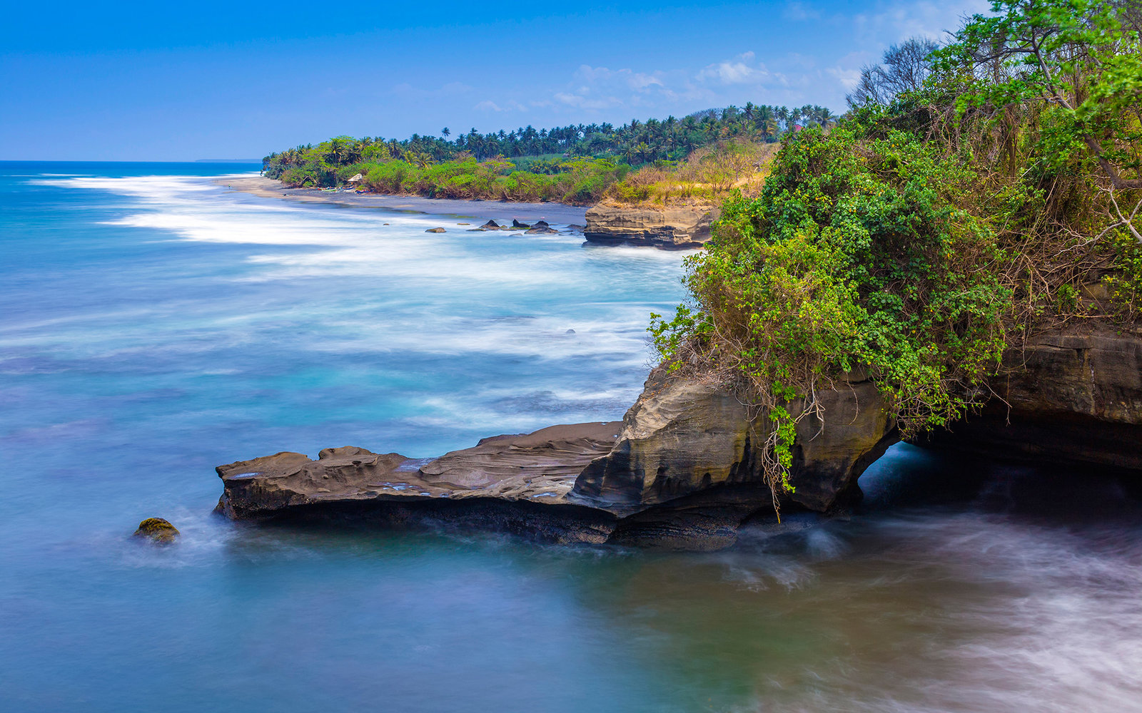 Indonesia, Bali, Coast, View of Balian beach