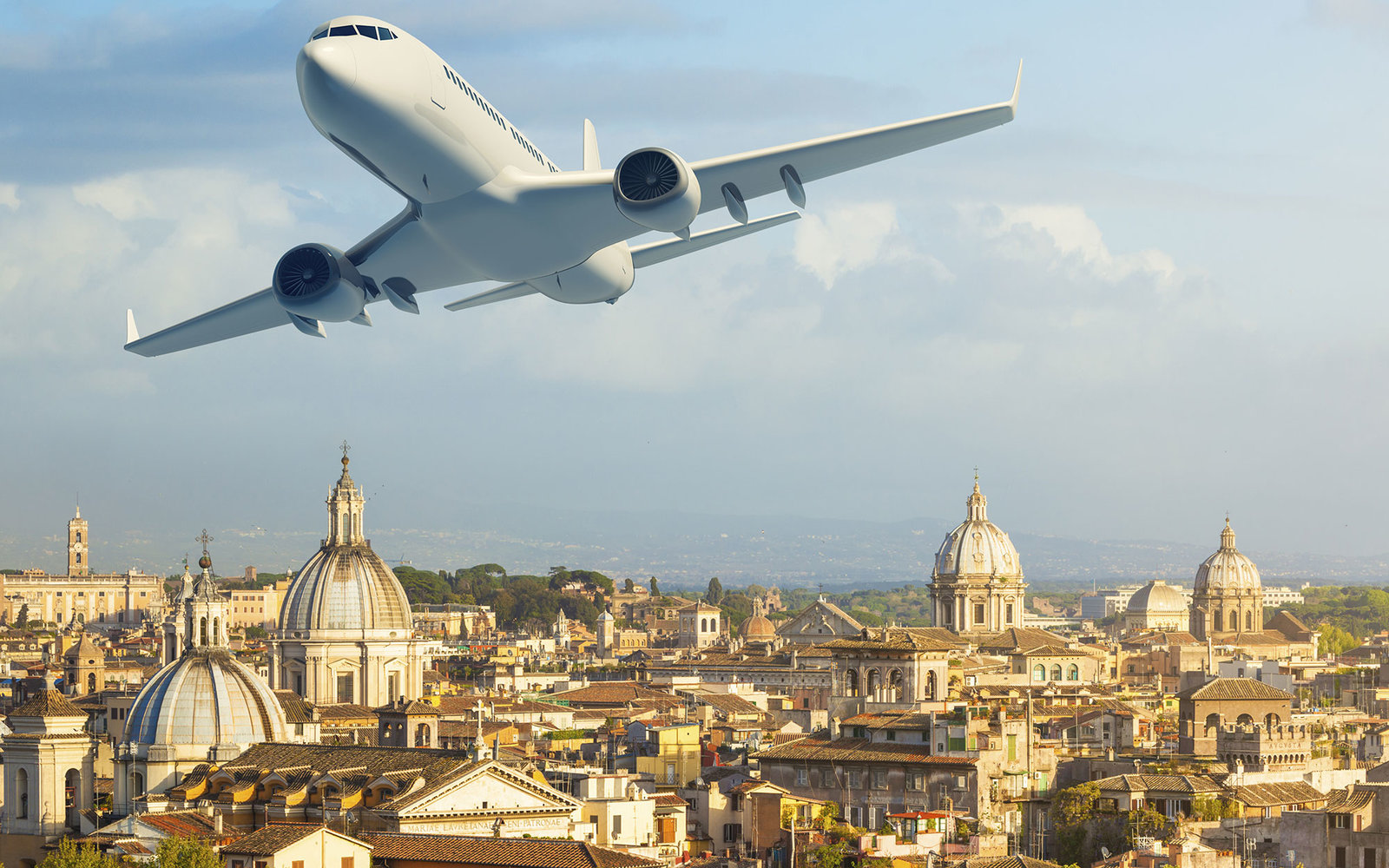 Airplane over Rome