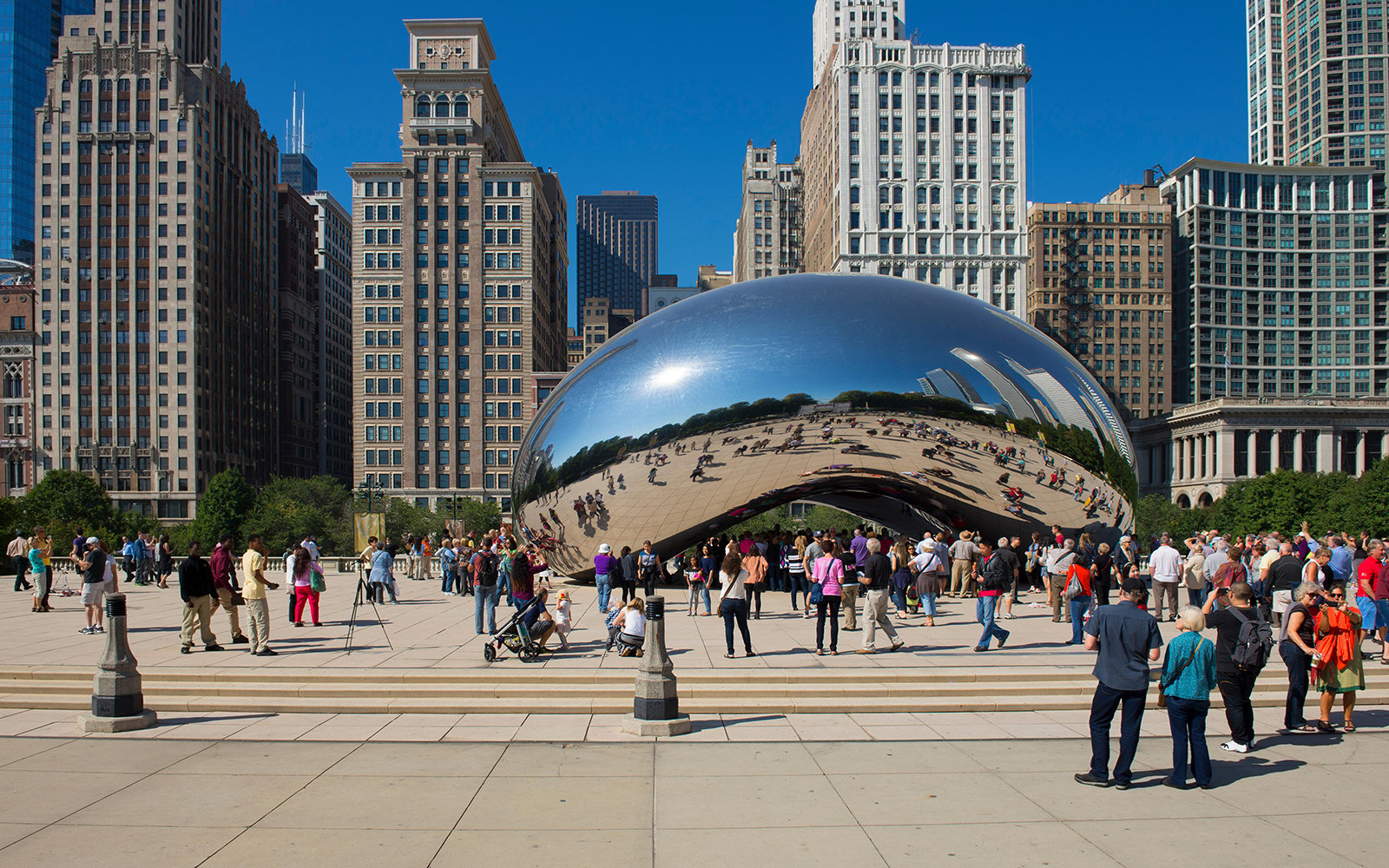 The Bean in Millennium Park:: Chicago
