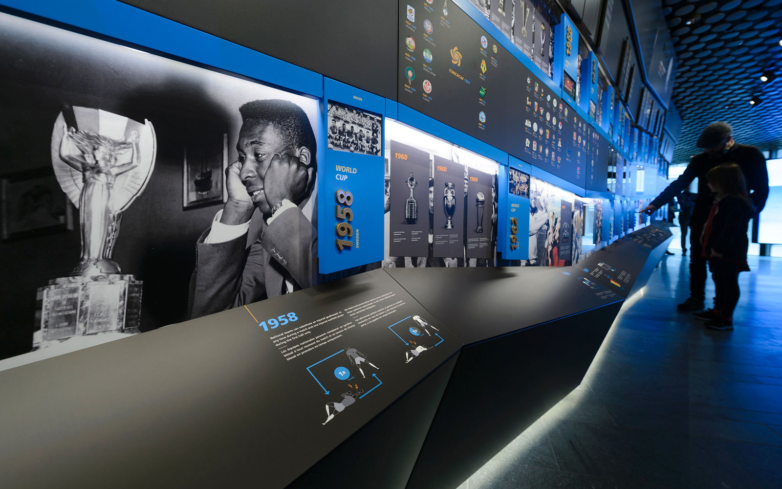 A view of the FIFA World Football Museum during its inauguration on February 28, 2016 in Zurich.