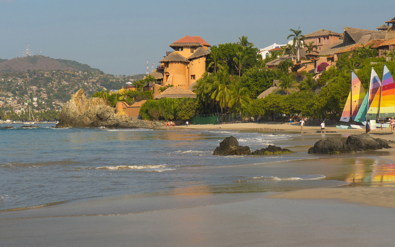 Beach of Playa La Ropa, Zihuatanejo, Guerrero, Mexico