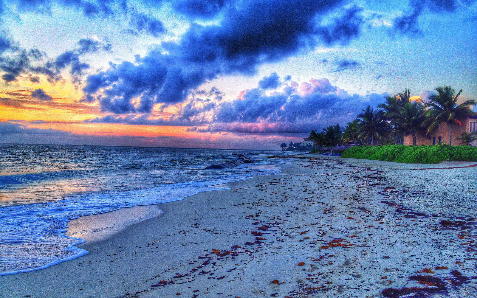 S0B50Y Mexican beach at sunrise