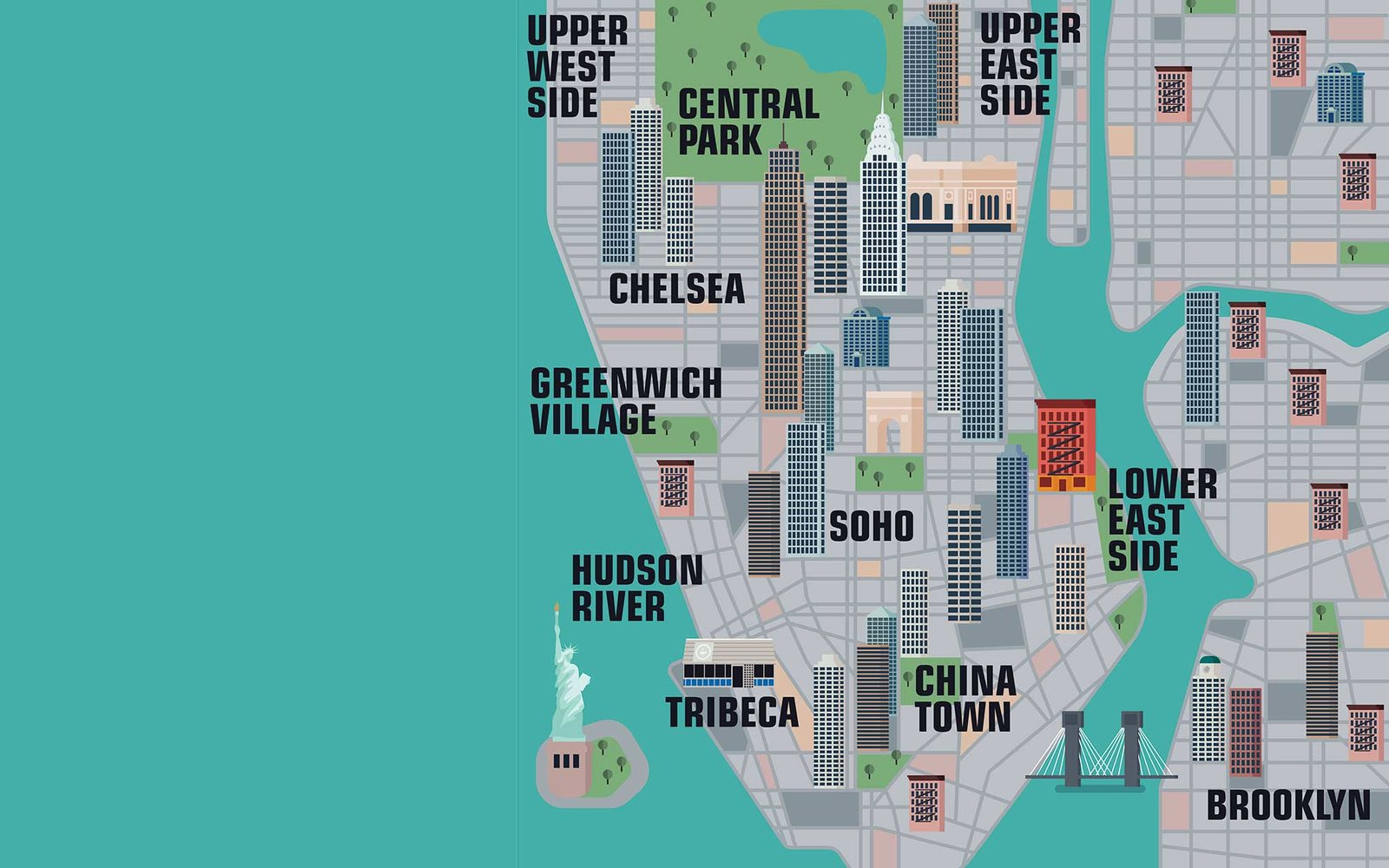 New York City Map Of Attractions