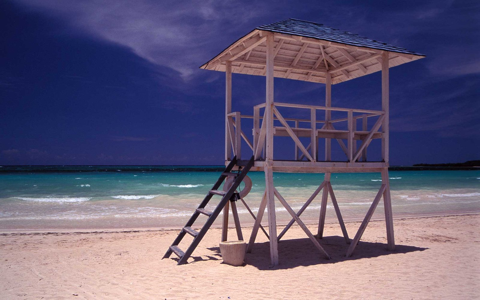 A99CEE Life Guards Lookout on Trelawny Beach Jamaica