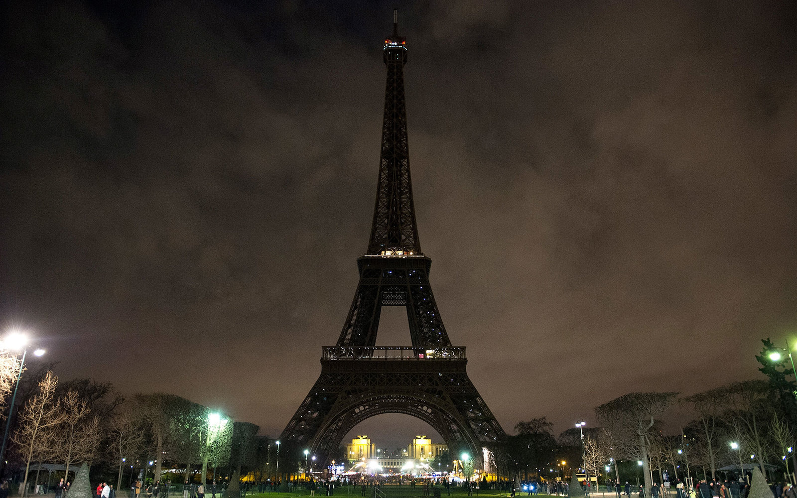 PARIS, FRANCE - MARCH 28:  The Eiffel Tower is plunged into darkness in support of the Earth Hour environmental campaign on March 28, 2015 in Paris, France. People in thousands of cities across the world are expected to take part in the annual event organ