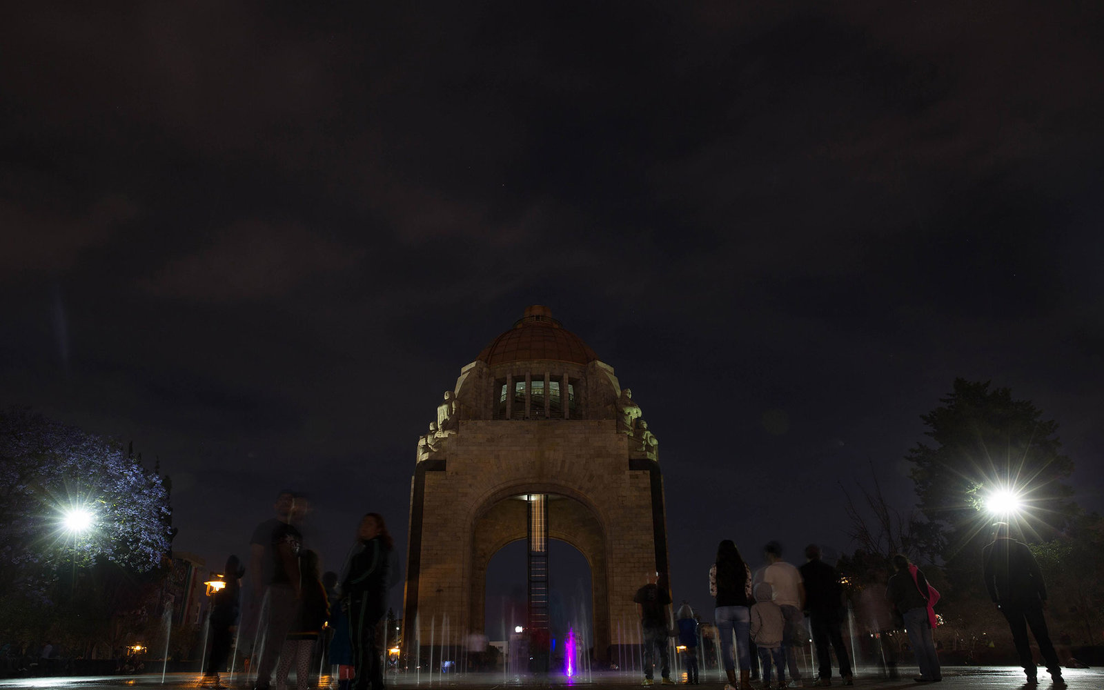 MEXICO CITY, MEXICO -  MARCH 19 : Monumento a la Revolucion is seen after its lights were turned off during the Earth Hour event organized by the World Wide Fund for Nature (WWF) to draw attention to global climate change on March 19, 2016 in Mexico City,