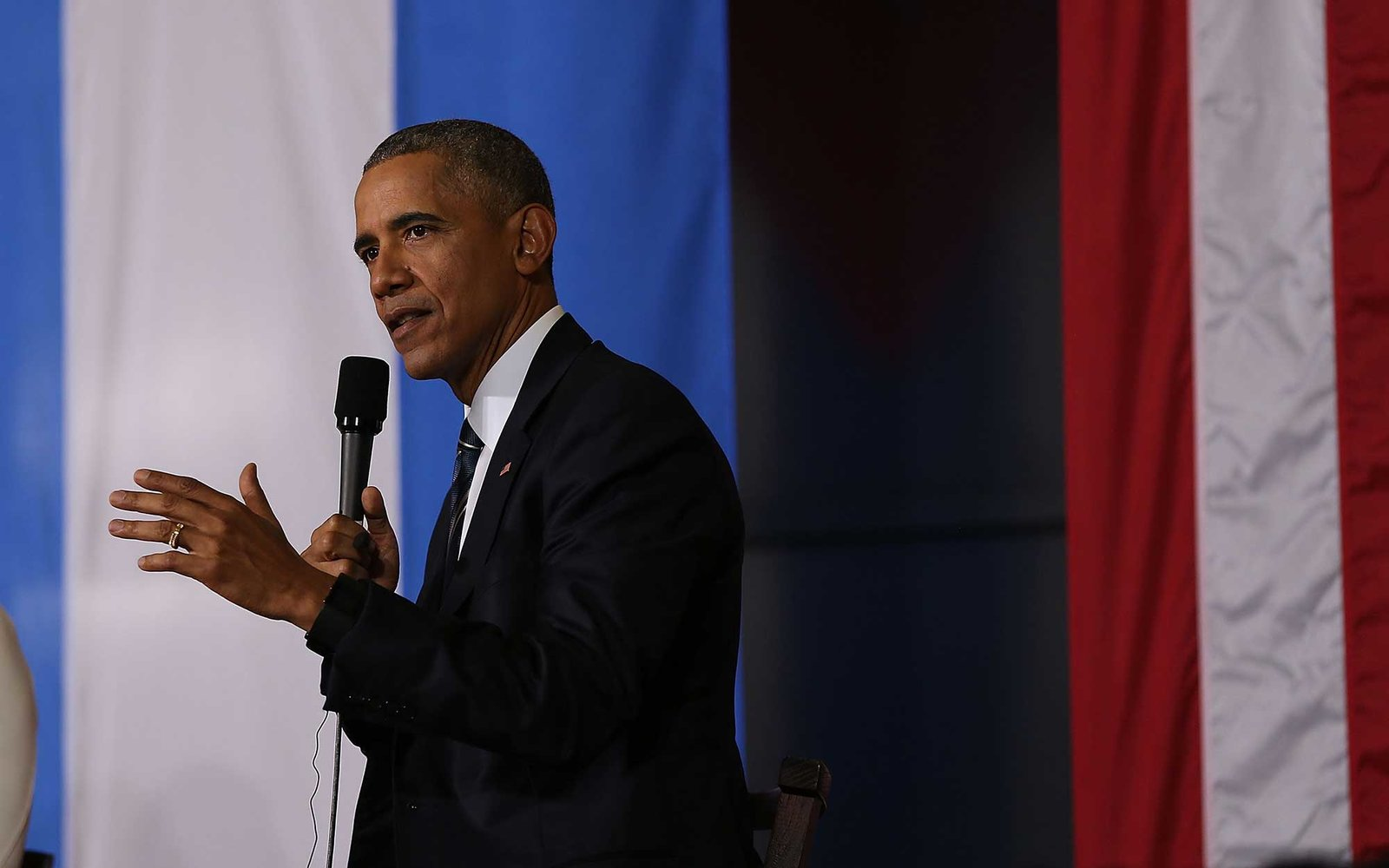 HAVANA, CUBA - MARCH 21:  President Barack Obama takes part in an event focused on entrepreneurship and opportunity for the Cuban people at La Cervecera on March 21, 2016 in Havana, Cuba.   Mr. Obama's visit is the first in nearly 90 years for a sitting p