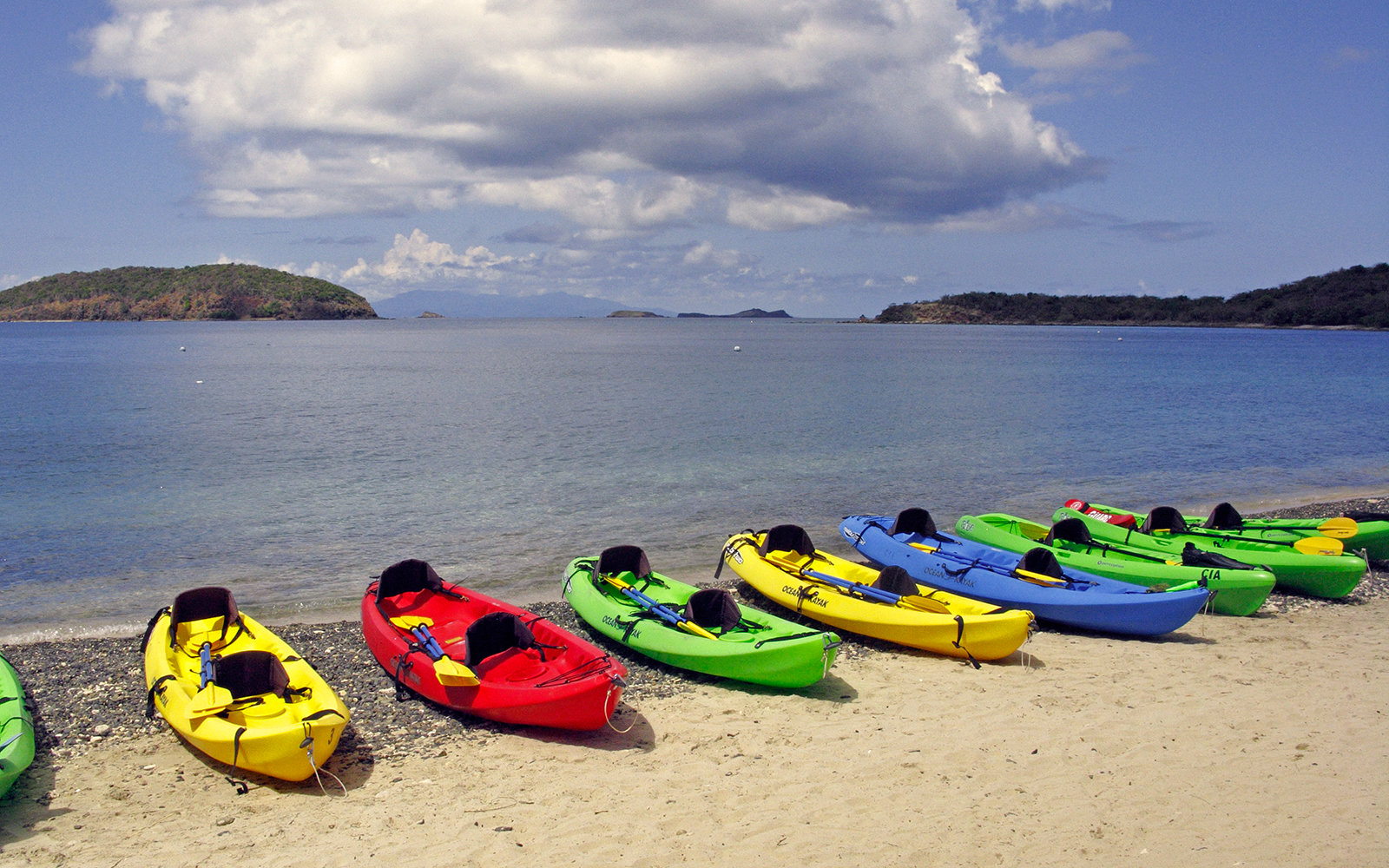 Isla Culebra, Puerto Rico, kayaks on Tamarindo Beach. (Photo By: Education Images/UIG via Getty Images)